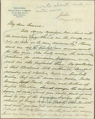William H. Taft, US President, Autograph Letter Signed, COA, UACC RD 036