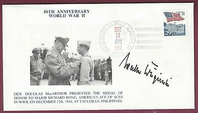 Walter Krupinski, WWII German Air Ace, Signed Postal Cover, COA, UACC RD 036