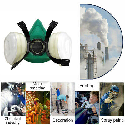 Emergency Survival Safety Respiratory Gas Mask Goggles &2 Dual Protection Filter