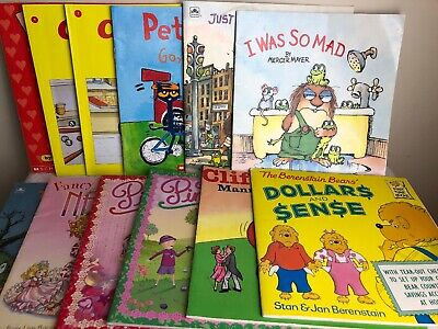 12 books Childrens Berenstain Bears, Pete the Cat, Little Critter Pinkalicious +