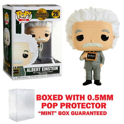Funko Pop icons: Albert Einstein #26 Vinyl w/0.5mm case Mint Condition