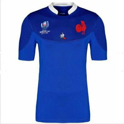 2019-2020 France Rugby jerseys T shirt man Size:S-3XL
