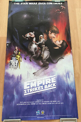 2010 Star Wars The Empire Strikes Back Hasbro Figures 16X30 Double Sided Poster
