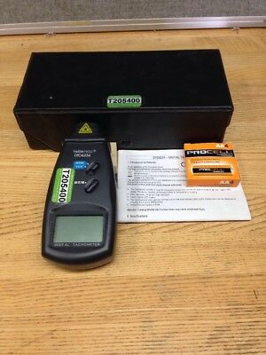VELLEMAN DTO6234 DIGITAL TACHOMETER w/ Case and Manual