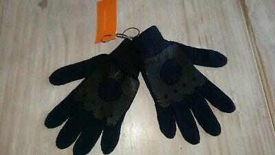 HALFPRICE New Miniman boys navy cotton knit gloves 4yrs/102cms Rrp£19.99 BNWT