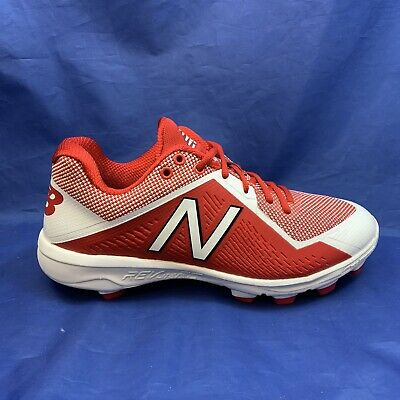New Balance Low-Cut4040v4 TPU Baseball Cleats (PL4040R4) - Red/White