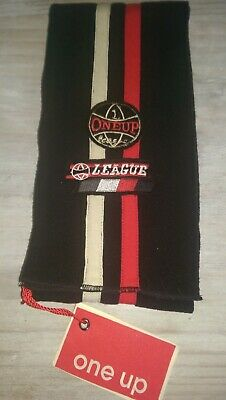 New One Up Designer retro soft black fleece baby boys scarf Rrp£21.99 6m+ BNWT
