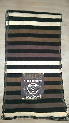 New Miniman baby boy one size 6m+ stripe reversible cotton scarf BNWT Rrp£17.99