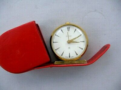 Bucherer Vintage Travelling alarm clock.Escapement C249. Needs attention.