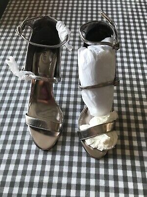 Heels Size UK 6 RRP £35 NEXT Beaded Strappy Satin Sandals