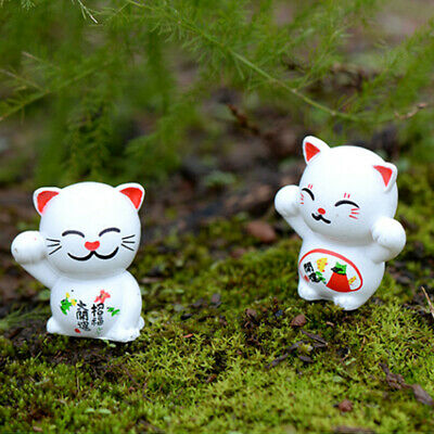 Exquisite Mini Ornament 6PCS/Set Miniature Statues Fortune Cat Miniature Craft