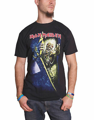 Iron Maiden T Shirt No Prayer For The Dying Band Logo Official Mens New Black