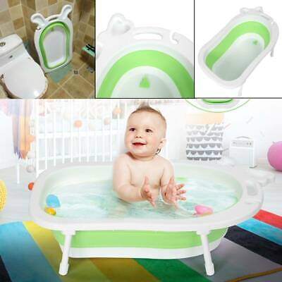 Folding Baby Kids Inflatable Shower Bath Tub Space Saving Toddler Thick Bathtub