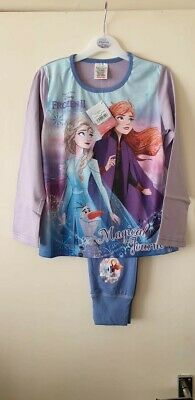 Girls Official Disney Frozen 2 Long Pyjamas Pjs Age 9-10 Magical journey