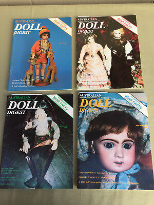 AUSTRALIAN DOLL DIGEST 4 Magazines No. 31, 32, 33, 37 with Paper Doll Cut Outs