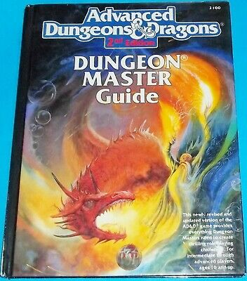 1989 Advanced Dungeons & Dragons 2Nd Edition Dungeon Master's Guide Hardcover