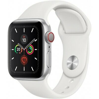 Apple Watch Series 5 GPS + Cellular 32GB 40 mm Weiß Aluminiumgehäuse