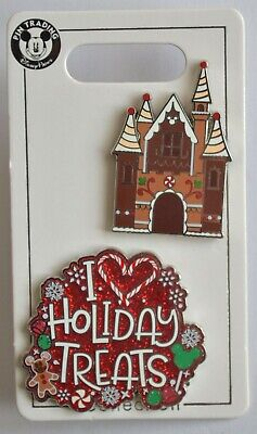 Disney Parks 2019 Christmas Gingerbread House 2 Open Edition Trading Pin NEW