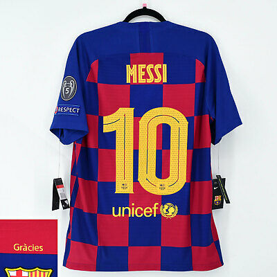 2019-20 Barcelona 'Authentic' Home Shirt MESSI #10 UCL Jersey