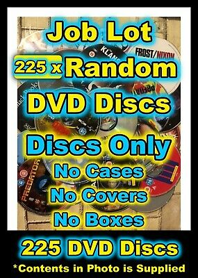 Job Lot of 225 Random Mixed TV & Film DVDs Discs Only No Cases or Boxes Supplied