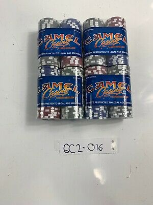 2005 Camel Casino Poker Chips 4 Sets - Unopened