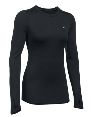 Under Armour BaseLayer ColdGear L/S Fitted Crew -1298214-001 -Womens Compression