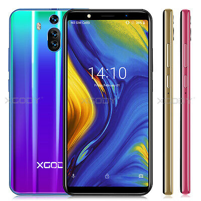 XGODY 6 Inch Android 8.1 Unlocked Mobile Phone 8GB 4Core 2SIM Smartphone Cheap
