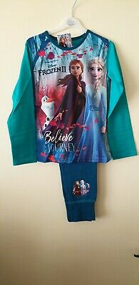 Girls Official Disney Frozen 2 Long Pyjamas  Age 7-8 Years Believe in the jouney