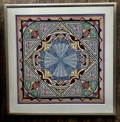 Embroidery Needlepoint Tapestry Art Deco Framed Amazing Details