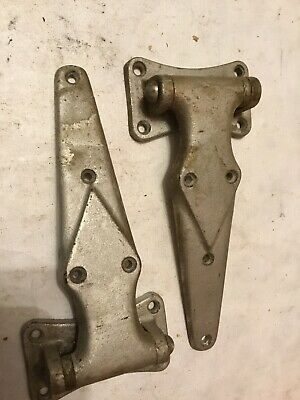 Huge 10 inches set of freezer/cooler  door hinges   forged