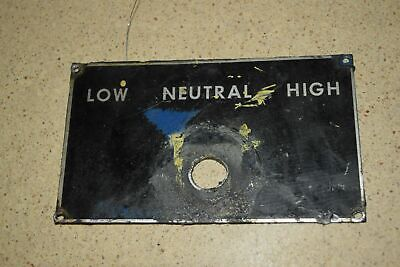 <Rt> South Bend 14 Fourteen Lathe Low/Neutral/High Plaque (P114)