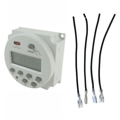 DC 12V 16A Digital Time Mini LCD Power Weekly Programmable Timer LCD Display