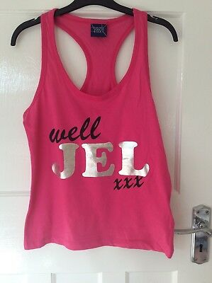 Ladies The Only Way Is Essex Well Jel Vest Top T-shirt 6 8 10 12 14 16