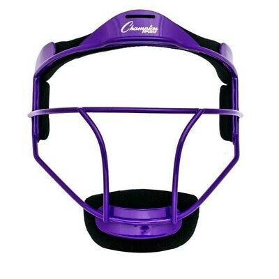 Champion Sports Sofbol Adulto Jarra / Fielder Máscara, Ancho Visión, Morado