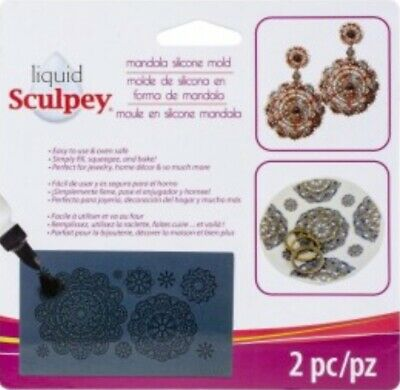 Liquid Sculpey  Mandala Silicone Mould For Sculpey Liquid Polymer Clay * New *
