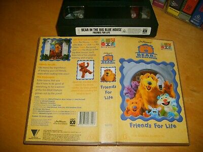 Bear in the Big Blue House - Friend's For Life - 2000 ABC 4 Kids RARE Vhs Issue!