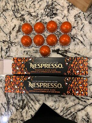SOLD OUT Nespresso 2019 Pumpkin Spice Cake 19 Capsules Vertuo Line Coffee Fall