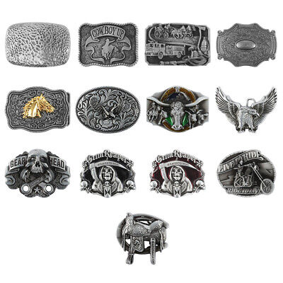 Western Cowboy Alloy Metal Vintage Men's Leather Belt Buckle Accessories 38/40mm