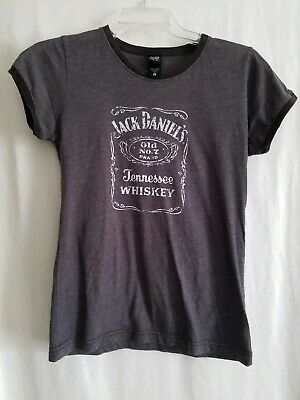 Alternative Womens Jack Daniel's Old No. 7 Tennessee Whiskey Brown T Shirt Med