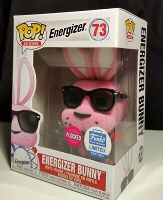Funko Pop! Ad Icon #73 Energizer Bunny FLOCKED Limited Edition *SHIPS WORLDWIDE*