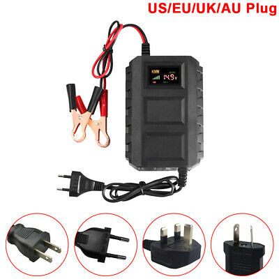 Smart Lead-acid Car Battery Charger with Adapter Plug for 12V 20A Motorbike New