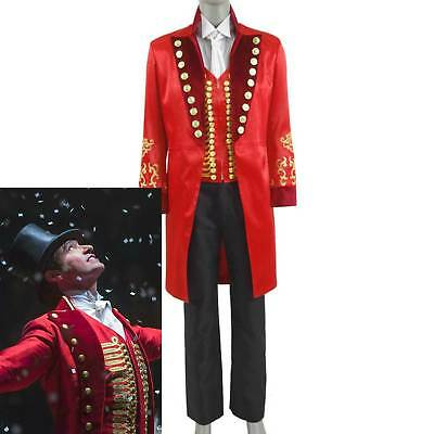 Barnum red outfit cosplay costume circus  HH T Hot! The Greatest Showman P