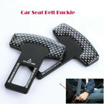 2x Universal Car Aid Safety Seat Belt Buckle Alarm Stopper Clip Canceller Clamp