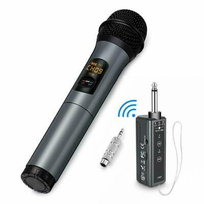 Wireless Karaoke Microphone, 10 Channel UHF Bluetooth System, Dynamic Cordless
