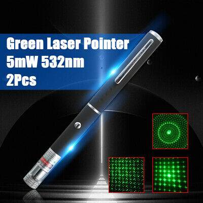 Military 5MW High Power Green Laser Pointer Pen Lazer 532nm Visible Beam