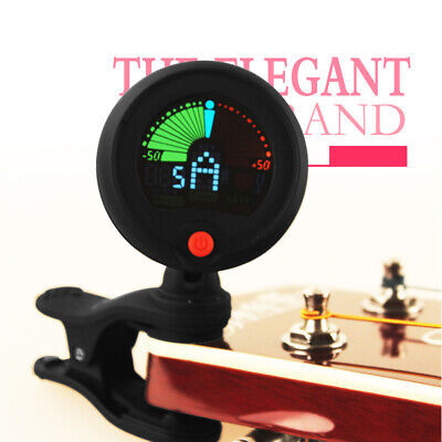 Chromatic LCD 3 in1 Clip-on Electric Tuner Tuning for Bass Guitar Ukulele Violin
