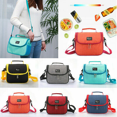 AU Portable Women Men Thermal Insulated Lunch Bag-Travel Picnic Lunch Box Tote