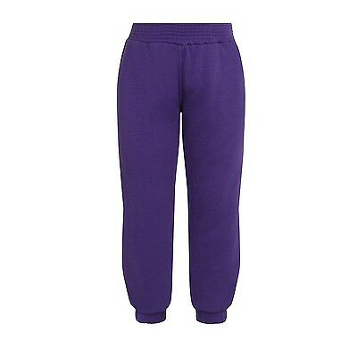 Plain Purple Jogging Bottoms Joggers Children Boys Girls Sizes Unbranded