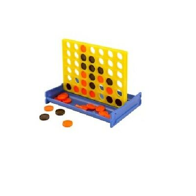 Mini Line Up 4 In A Row Game Pocket Travel Game Henbrandt Party (1, 4, 10 or 30)