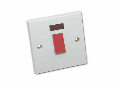 45 Amp 1 Gang Cooker Switch With Neon Indicator
